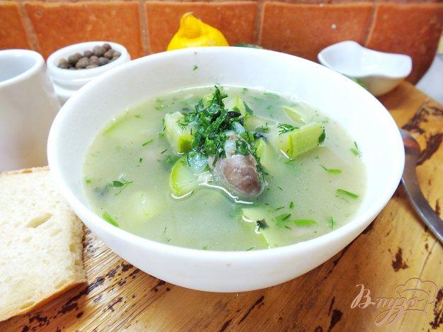 фото рецепта: Суп с куриными сердечками и кабачком