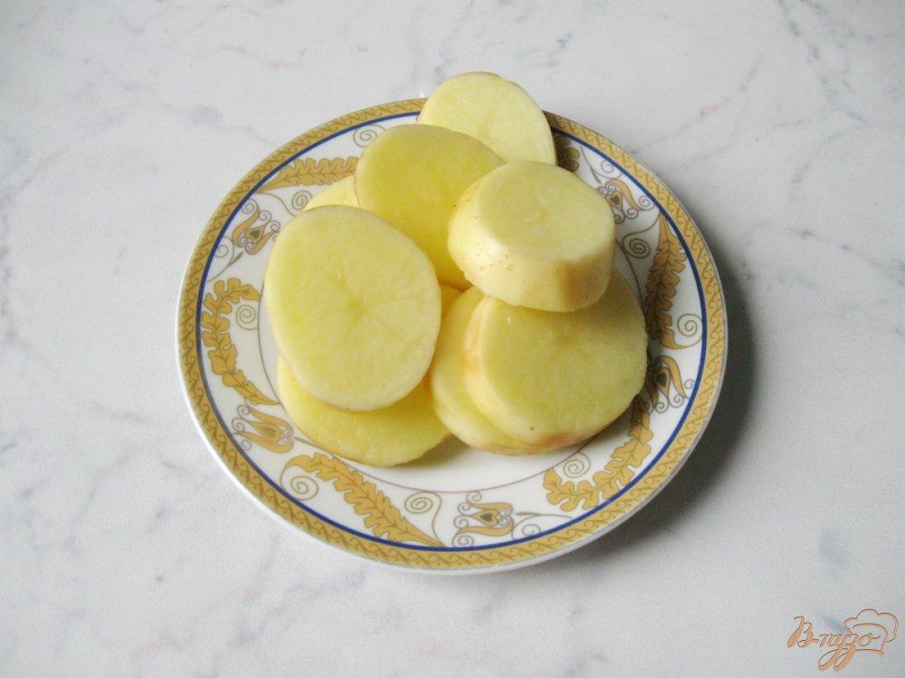 Рецепт Картофель запечённый с кабачками и грибами.