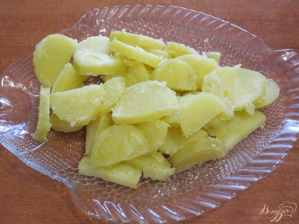 Фото приготовление рецепта: Тортилья с грибами и картофелем шаг №4