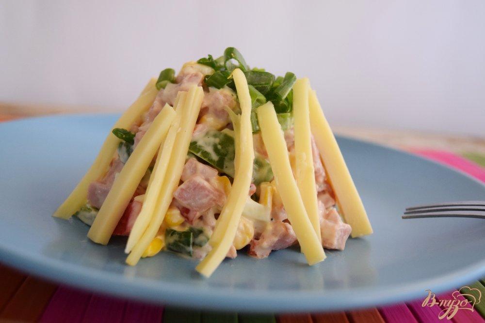 рецепт салата с колбасой пошаговое фото