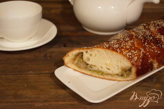 Дріжджовий капустяний пиріг - косичка. Як приготувати з фото