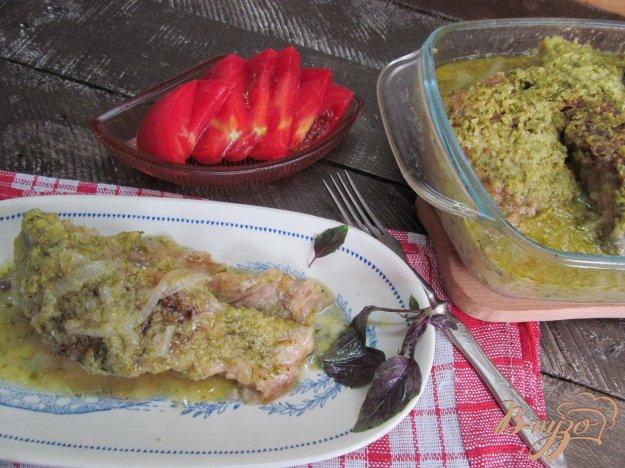 фото рецепта: Карась запеченный под кабачковым соусом