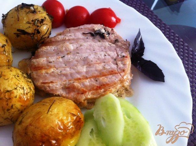 фото рецепта: Свинина гриль  в кефирном маринаде
