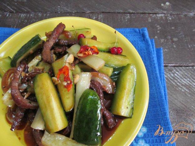 фото рецепта: Мясо с огурцами по-корейски