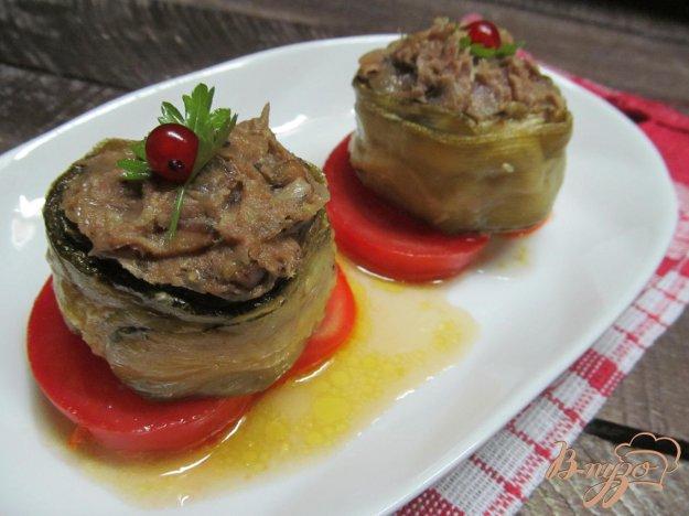 фото рецепта: Закуска из кабачка с фаршем