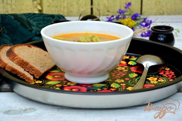 фото рецепта: Овощной суп со шпинатными клецками
