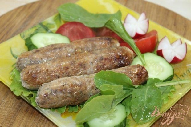 Домашние мясные колбаски