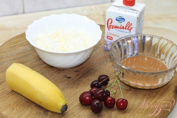 Творожный десерт с бананом и вареной сгущенкой