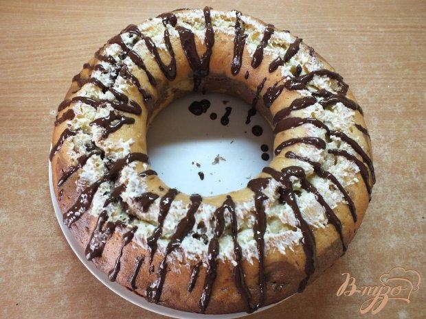 Полосатый кекс с шоколадом