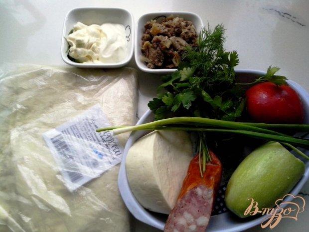 Рецепт Конверт закусочный из лаваша