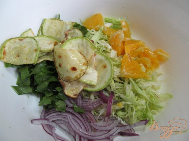 Салат из капусты апельсина кабачка