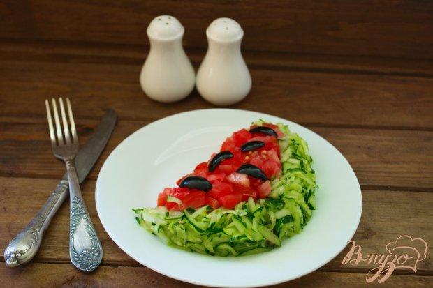 """Нарядный салат """" Долька арбуза """""""