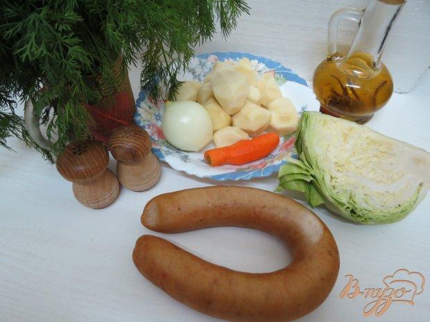 Суп с колбасками и с капустой
