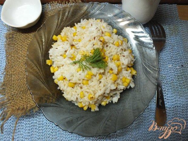 Рис с маслом льна и кукурузой