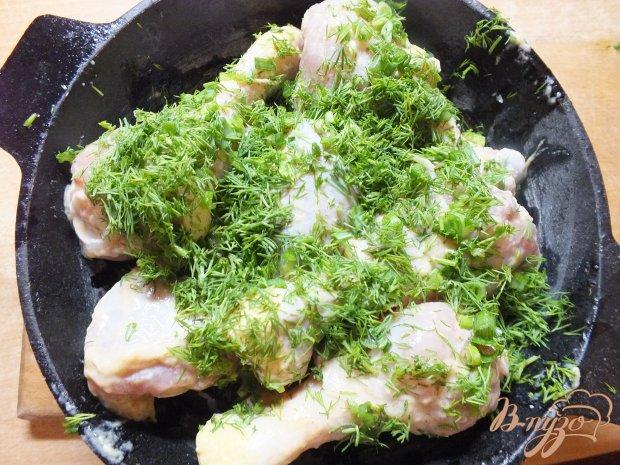 Куриные голени запеченные в горчице с зеленью