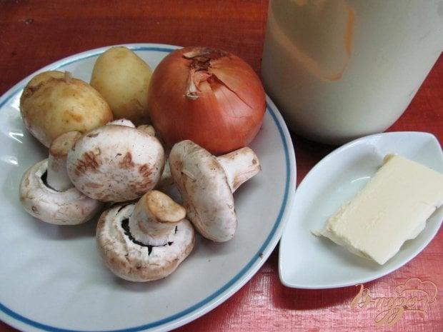 Рецепт Молодой картофель с грибным соусом