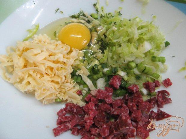 Котлеты с кабачком сыром и салями