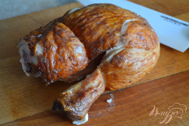 Жареный картофель с копченым куриным мясом