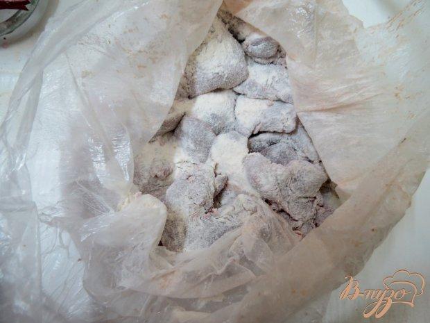 Печень с вешенками