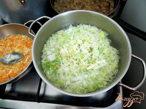 Суп из сёмги, капусты и белого вина