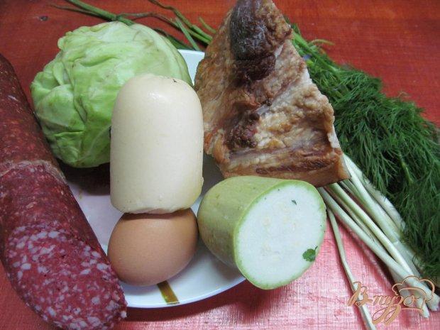 Овощные котлеты с беконом и колбасой