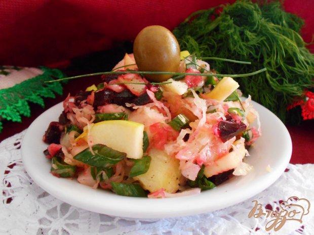 Салат со свеклой и яблоком