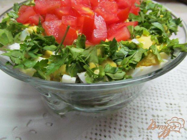 Салат из сердца помидора с французским соусом
