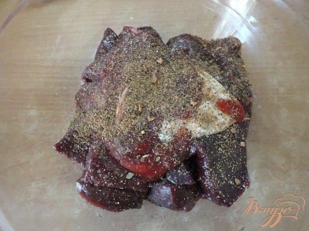 Шашлык из говяжьей печенки