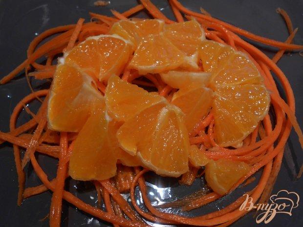 Салат с морковью, апельсином и творожной заправкой