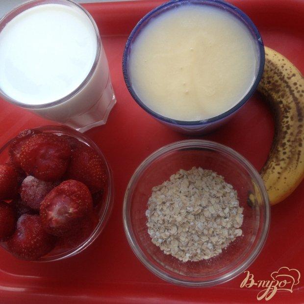Рецепт Бананово-клубничный смузи