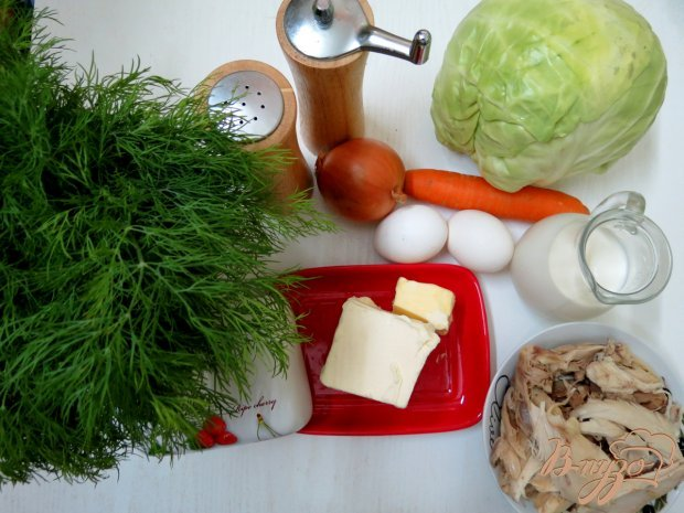 Рецепт Запеканка из молодой капусты и куриного мяса