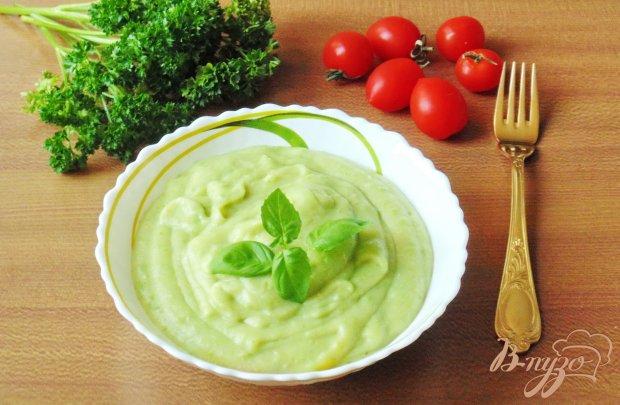 Картофельное пюре с брокколи и зеленым горошком