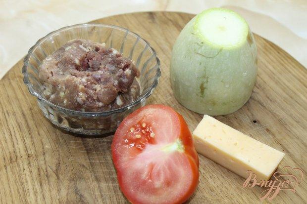 Рецепт Запеченные кабачки с фаршем под сыром