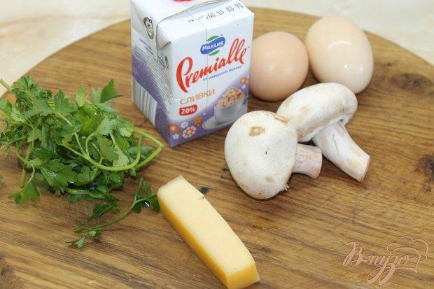 Фриттата с шампиньонами и сыром
