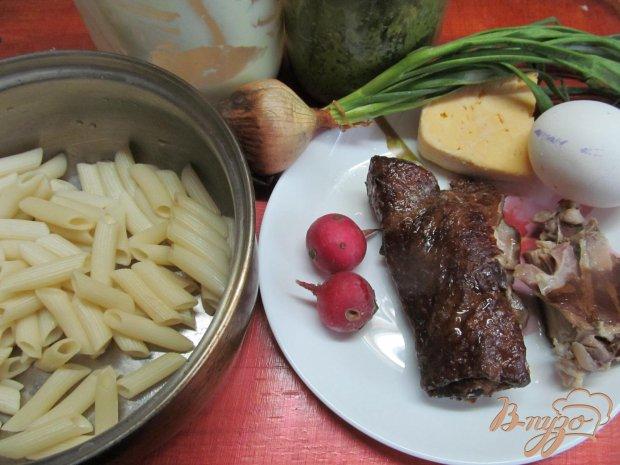 Рецепт Запеканка с макаронами и копченной курицей