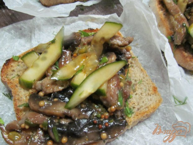 Открытый сэндвич