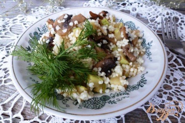 Пшенная каша с грибами и кабачками