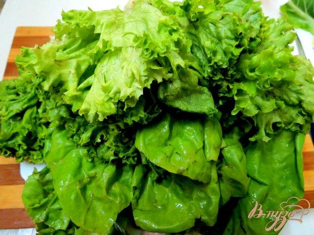 Старопольский салат из листьев салата