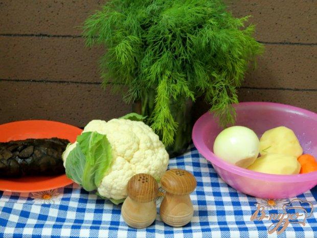 Рецепт Суп с лесными грибами и цветной капустой в мультиварке