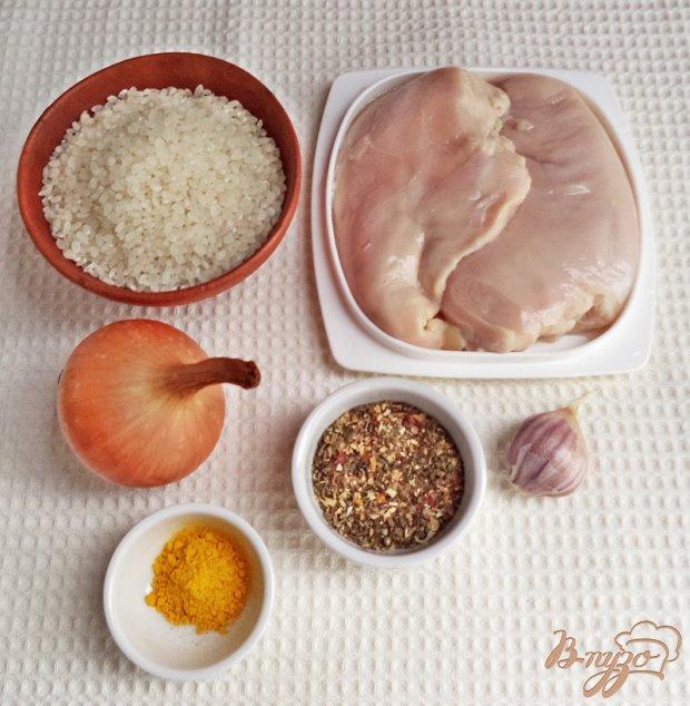 Рецепт Отбивные из куриного филе с рисом и луком