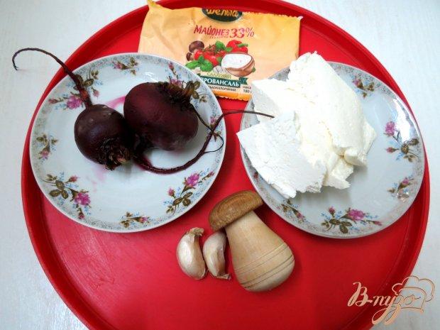 Рецепт Свекольно творожная намазка на хлеб