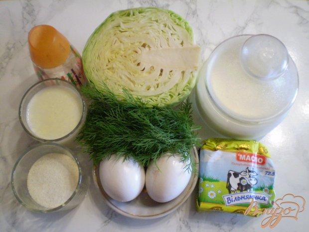 Рецепт Запеканка из молодой капусты с манкой