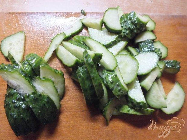Рецепт Салат из отварной телятины с огурцом