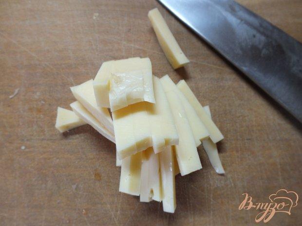 Рецепт Мясной салат с твердым сыром и помидорами