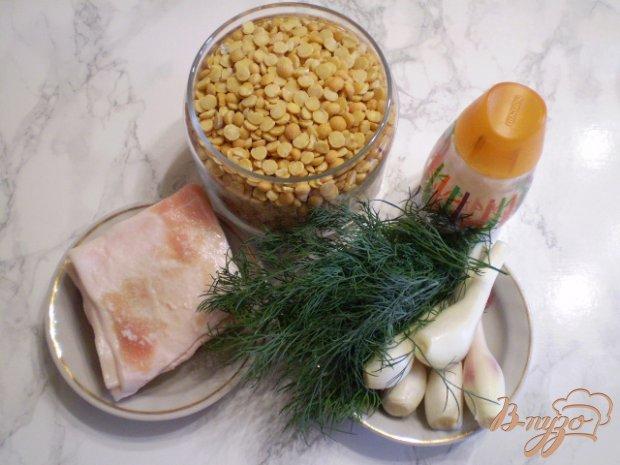 Рецепт Гороховое пюре с салом, луком и укропом