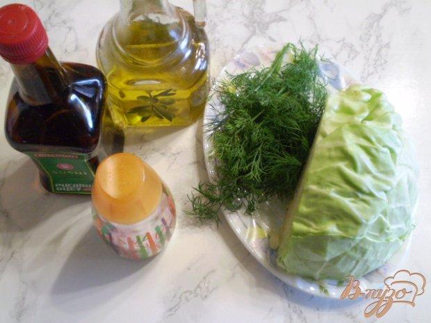 Рецепт Салат из молодой капусты с укропом и уксусом