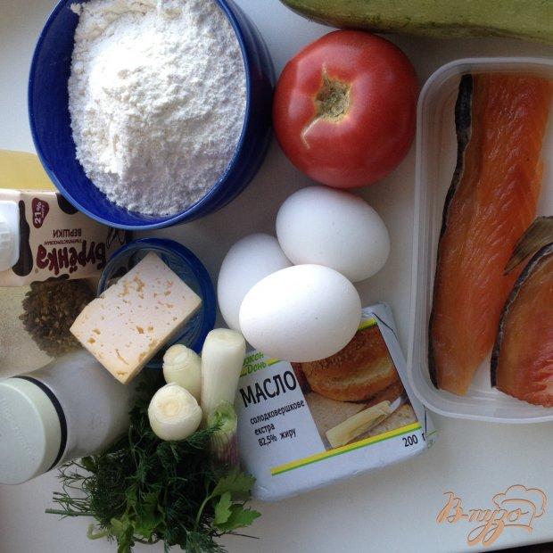 Рецепт Киш с копченным лососем