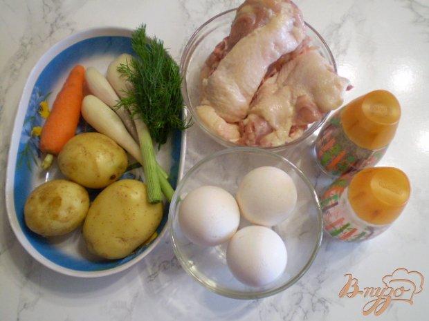 Рецепт Суп на курином бульоне с яйцами и картофелем