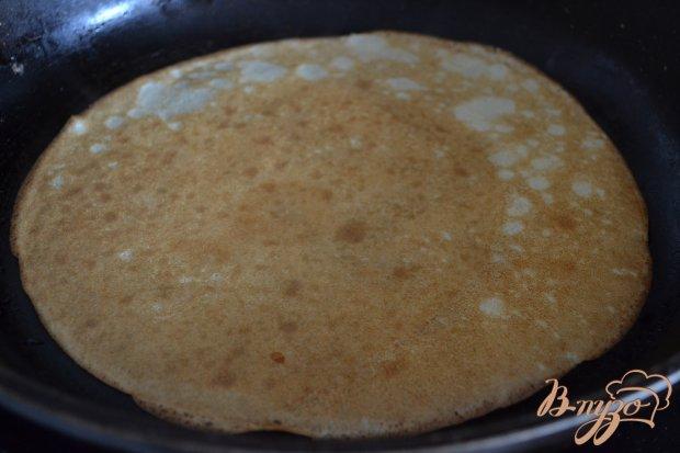 Рецепт Блины с копченой курицей и фасолью
