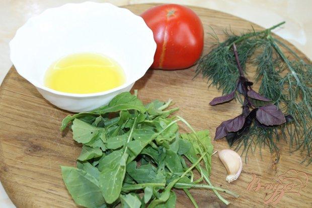 Рецепт Закуска с рукколой и помидорами
